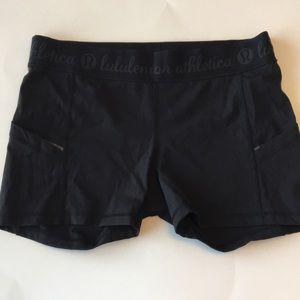 Lululemon running shorts black 10